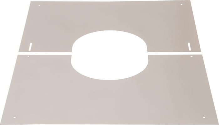 Abdeckblende 0–30° | Edelstahlschornstein DW Keramik