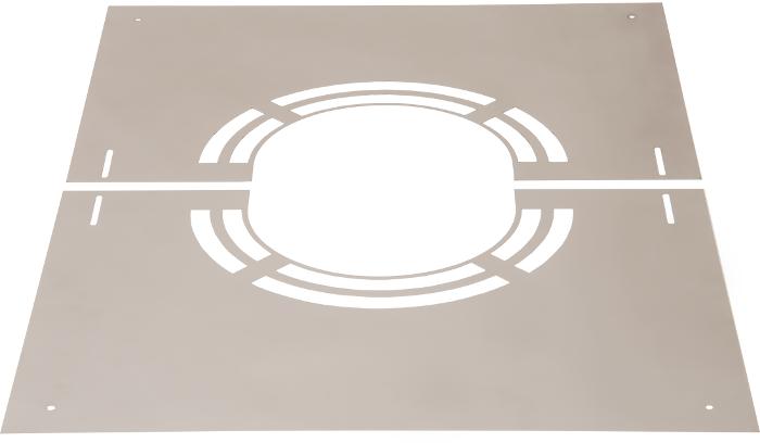 Abdeckblende 0° mit Lüftungsschlitze | Edelstahlschornstein DW Keramik