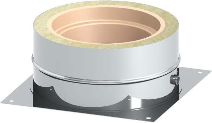 Bodenplatte Sockelmontage | Edelstahlschornstein DW Keramik