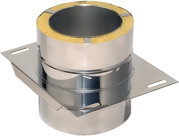 Bodenplatte Zwischenstütze | Edelstahlkamin DW Standard / Premium