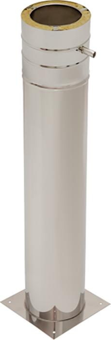 Bodenplatte mit Standfuß 1000 mm | Edelstahlkamin DW Trend