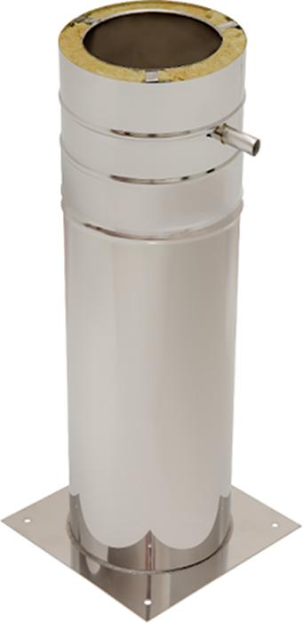 Bodenplatte mit Standfuß 500 mm | Edelstahlkamin DW Trend