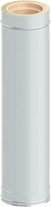Längenelement 1000 mm | Edelstahlschornstein DW Keramik