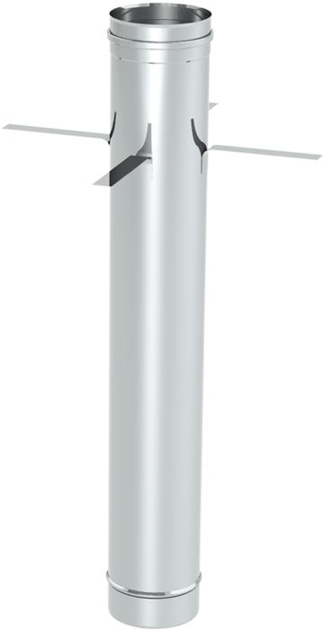 Längenelement 1000 mm mit Abstandhalter | Kaminsanierung Edelstahl EW