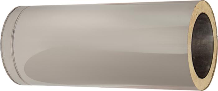 Längenelement 500 mm mit Wandfutter | Edelstahlkamin DW Standard / Premium