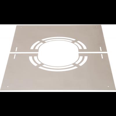 Abdeckblende 0–30° mit Lüftungsschlitze | Edelstahlkamin DW Standard / Premium / Trend