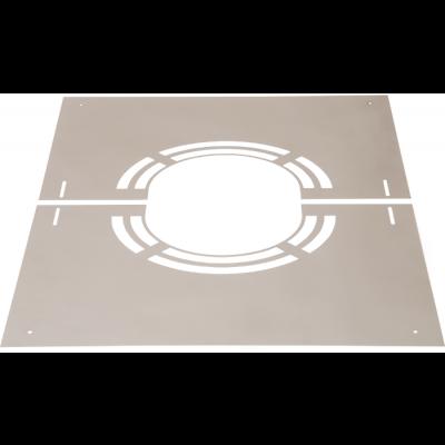 Abdeckblende 1-65° mit Lüftungsschlitze | Edelstahlschornstein DW Keramik