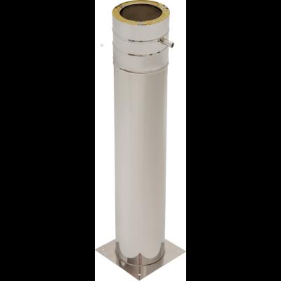 Bodenplatte mit Standfuß 1000 mm | Edelstahlkamin DW Standard / Premium