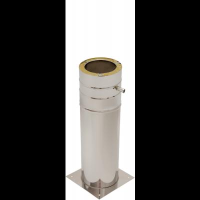 Bodenplatte mit Standfuß 500 mm | Edelstahlkamin DW Standard / Premium