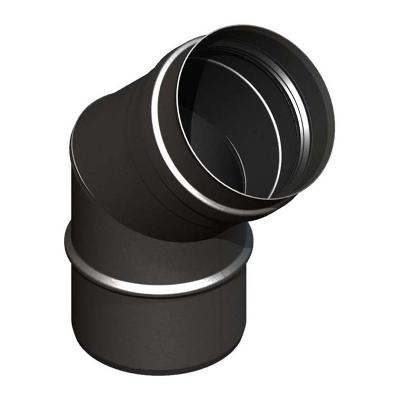 Bogen 45° schwarz | EW Pellets