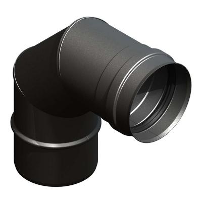 Bogen 90° schwarz | EW Pellets