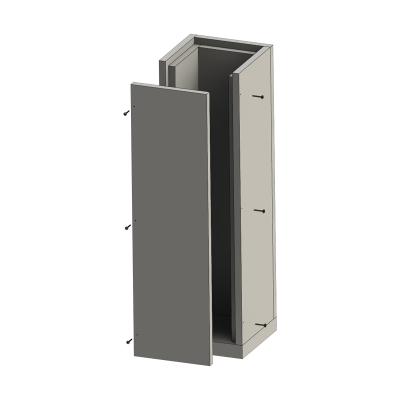 Grundelement 1000 mm mit Bodenplatte | Leichtbauschacht
