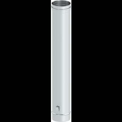 Längenelement 1000 mm mit Ablassschlaufe | Kaminsanierung Edelstahl EW