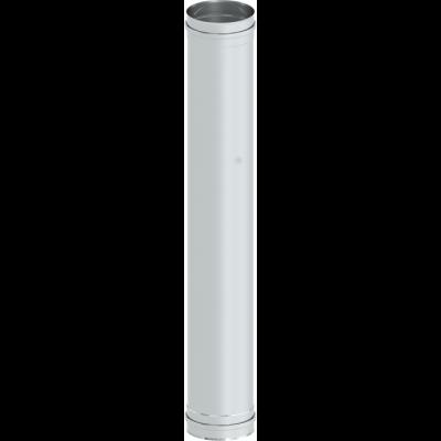 Längenelement 1000 mm mit Doppelmuffe | Kaminsanierung Edelstahl EW