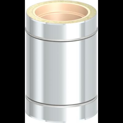 Längenelement 390 mm | Edelstahlschornstein DW Keramik