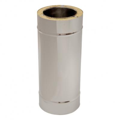 Längenelement 500 mm mit Wandhalter Typ 2 | Edelstahlkamin DW Trend