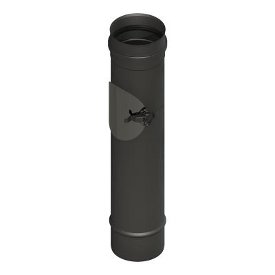 Längenelement 500 mm mit Revision schwarz | EW Pellets