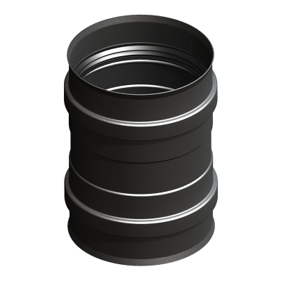 Ofenanschluss mit Doppelmuffe schwarz | EW Pellets