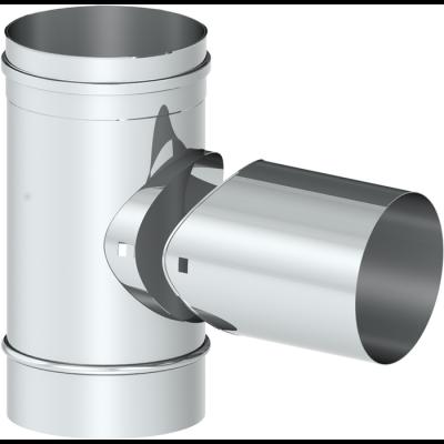T-Stück 90° mit Bajonettverschluss | Kaminsanierung Edelstahl EW