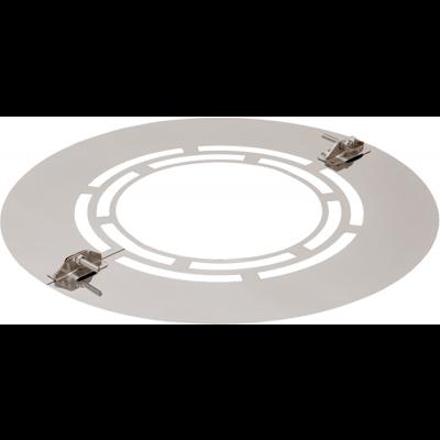 Wandrosette zweiteilig mit Lüftungsschlitze | Edelstahlkamin DW Standard / Premium / Trend